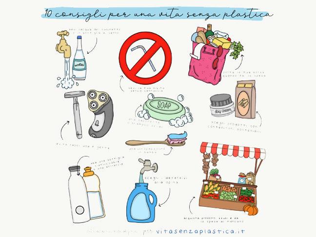 10 consigli per una vita senza plastica