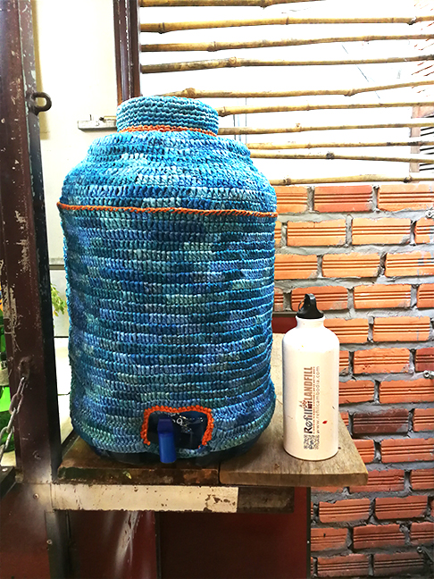 Refill my bottle station al Made in Cambodia Market,Siem Reap