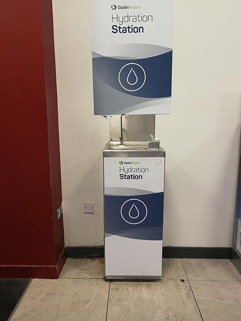 Fontanella d'acqua all'aeroporto di Dublino